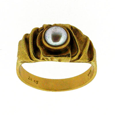 Δαχτυλίδια Με Μαργαριτάρι Κ14-Κ18